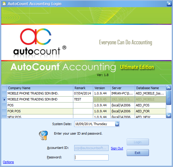 Subsequent Accountant login