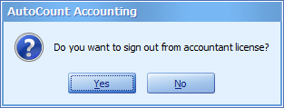 Accountant Sign Out prompt
